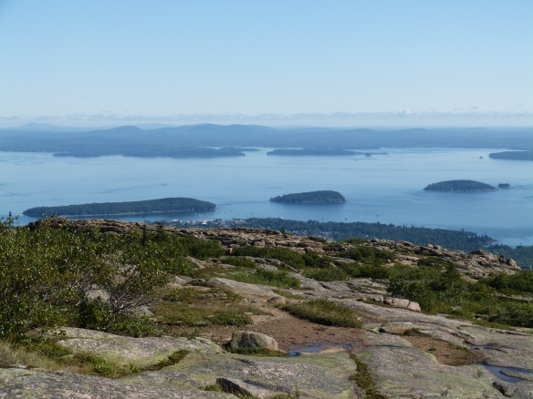 looking down to Bar Harbor