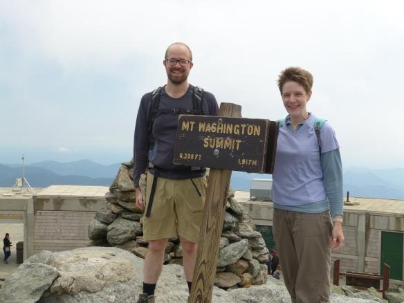 at summit of Mt Washington