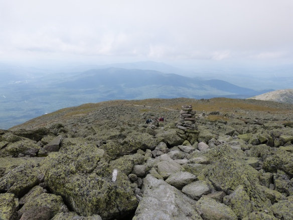 Crawford path from the summit of Mt Washington