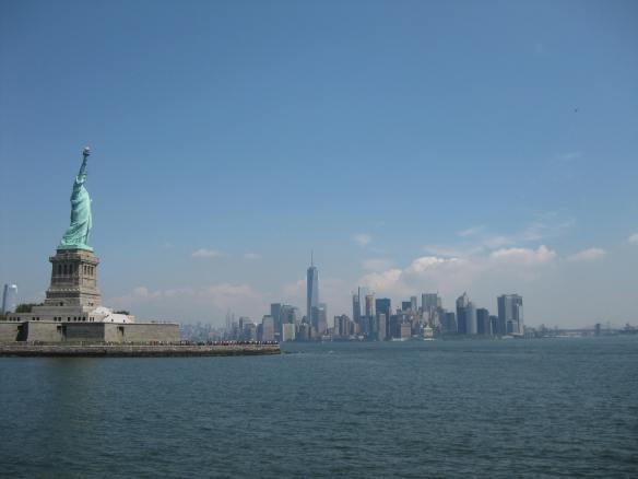 lower Manhattan and Lady Liberty