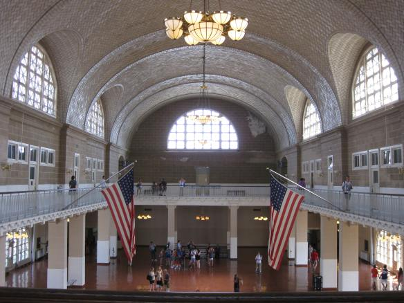 Ellis Island processing hall
