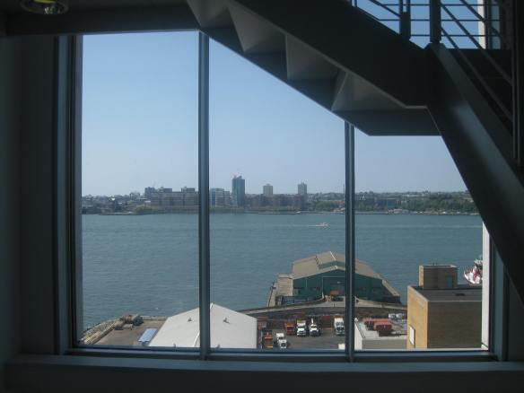 views of Hoboken from the Whitney