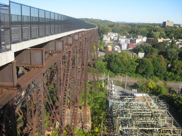 A long way down, and lots of rusted steelwork